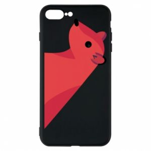 Phone case for iPhone 8 Plus Pink Mongoose - PrintSalon