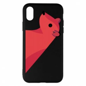 Phone case for iPhone X/Xs Pink Mongoose