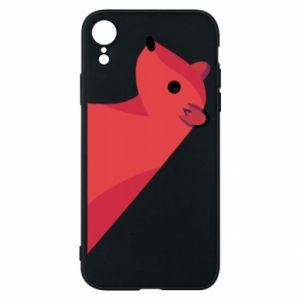 Phone case for iPhone XR Pink Mongoose - PrintSalon