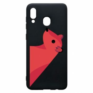 Phone case for Samsung A20 Pink Mongoose