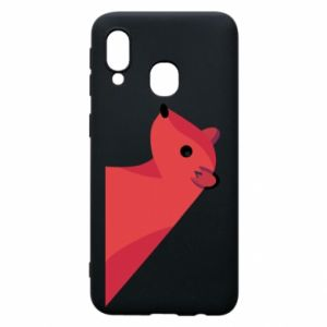 Phone case for Samsung A40 Pink Mongoose