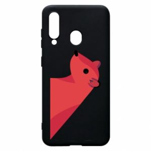 Phone case for Samsung A60 Pink Mongoose