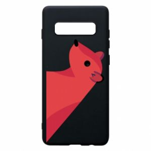 Phone case for Samsung S10+ Pink Mongoose - PrintSalon