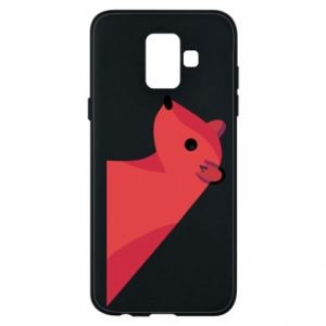 Phone case for Samsung A6 2018 Pink Mongoose