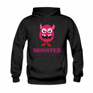 Bluza z kapturem dziecięca Pink monster
