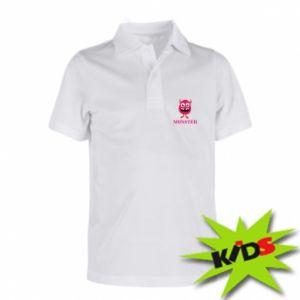 Dziecięca koszulka polo Pink monster