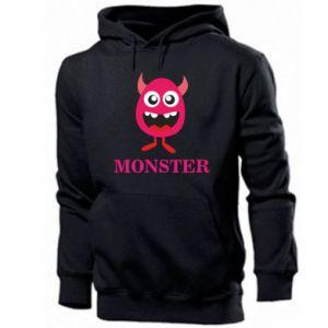 Men's hoodie Pink monster