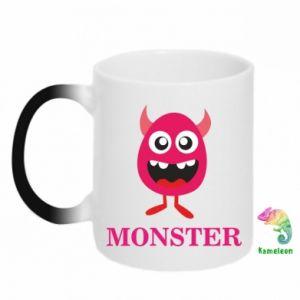 Kubek-kameleon Pink monster