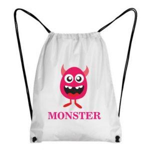 Backpack-bag Pink monster