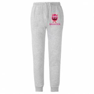Spodnie lekkie męskie Pink monster