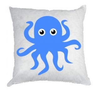 Pillow Blue octopus - PrintSalon