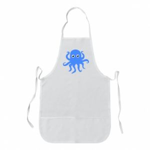 Apron Blue octopus - PrintSalon