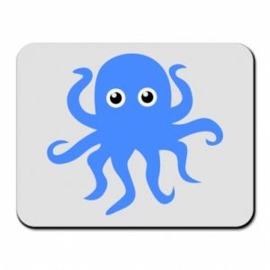 Mouse pad Blue octopus - PrintSalon