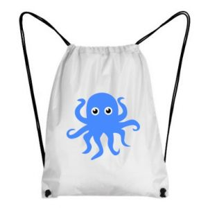 Backpack-bag Blue octopus - PrintSalon