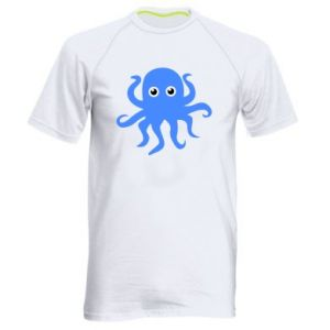 Men's sports t-shirt Blue octopus - PrintSalon