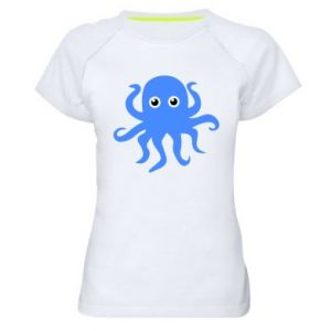 Women's sports t-shirt Blue octopus - PrintSalon