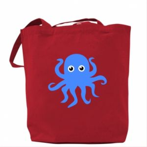 Bag Blue octopus - PrintSalon
