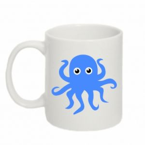 Mug 330ml Blue octopus - PrintSalon