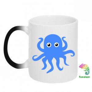 Chameleon mugs Blue octopus - PrintSalon
