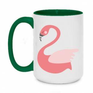 Kubek dwukolorowy 450ml Pink swan swims