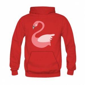 Bluza z kapturem dziecięca Pink swan swims