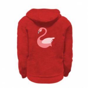 Bluza na zamek dziecięca Pink swan swims