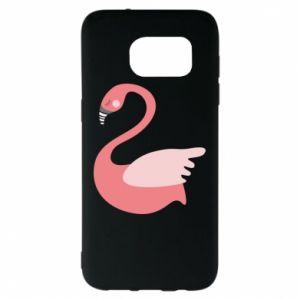 Etui na Samsung S7 EDGE Pink swan swims