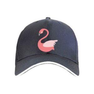 Czapka Pink swan swims
