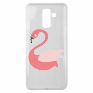 Etui na Samsung J8 2018 Pink swan swims