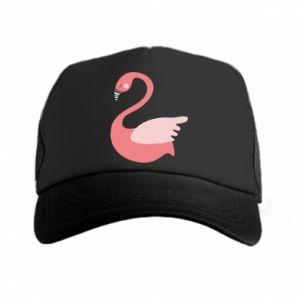 Czapka trucker Pink swan swims