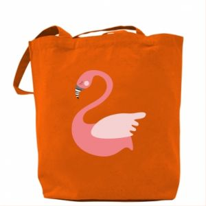 Torba Pink swan swims