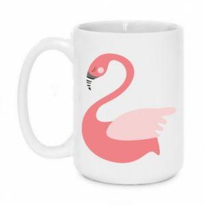 Mug 450ml Pink swan swims - PrintSalon