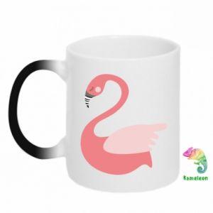 Kubek-magiczny Pink swan swims