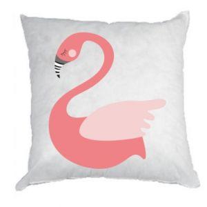 Poduszka Pink swan swims