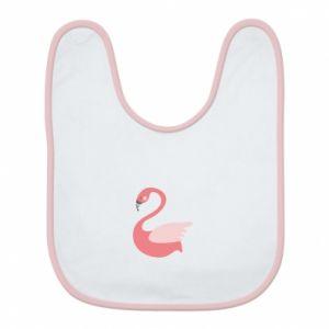 Śliniak Pink swan swims