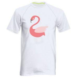 Koszulka sportowa męska Pink swan swims