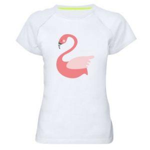 Koszulka sportowa damska Pink swan swims