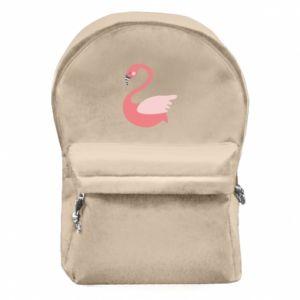 Plecak z przednią kieszenią Pink swan swims