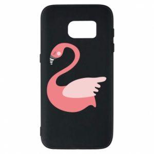 Etui na Samsung S7 Pink swan swims