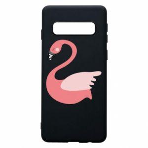 Etui na Samsung S10 Pink swan swims