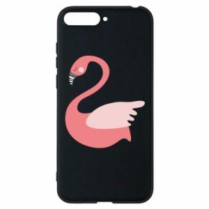 Etui na Huawei Y6 2018 Pink swan swims