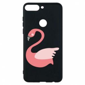 Etui na Huawei Y7 Prime 2018 Pink swan swims