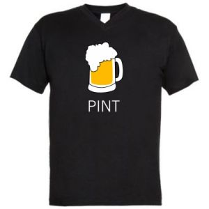 Men's V-neck t-shirt Pint - PrintSalon