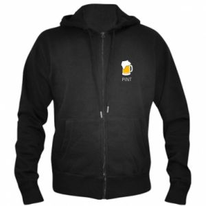 Men's zip up hoodie Pint - PrintSalon