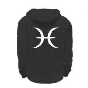 Kid's zipped hoodie % print% Pisces
