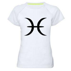 Damska koszulka sportowa Pisces - PrintSalon