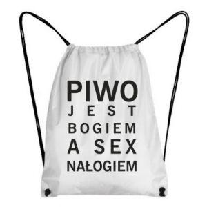 Plecak-worek Piwo jest bogiem a sex nałogiem