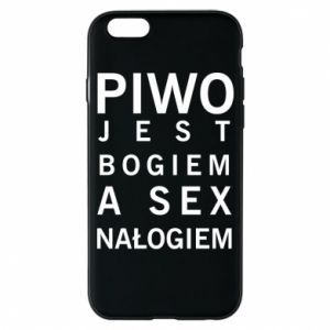 Etui na iPhone 6/6S Piwo jest bogiem a sex nałogiem