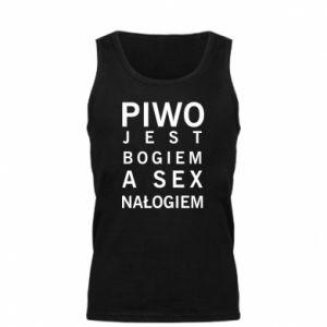 Męska koszulka Piwo jest bogiem a sex nałogiem