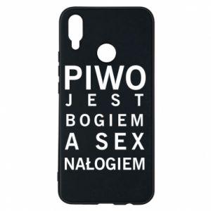 Etui na Huawei P Smart Plus Piwo jest bogiem a sex nałogiem
